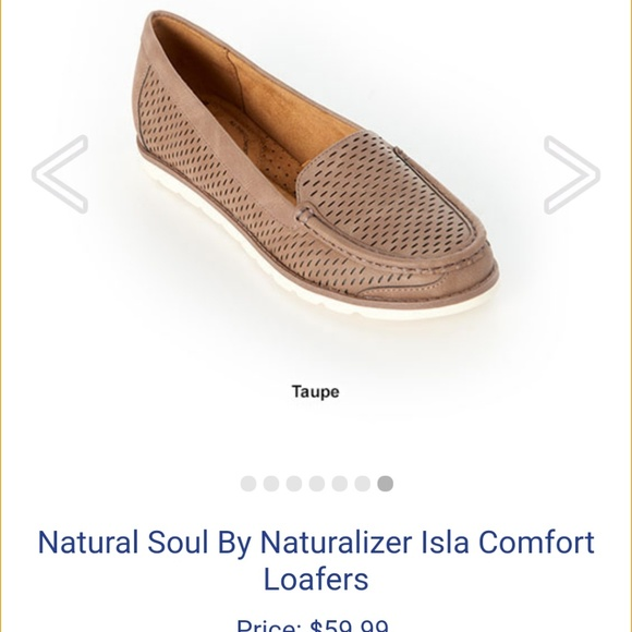 Natural Soul Shoes - Tan/taupe loafer